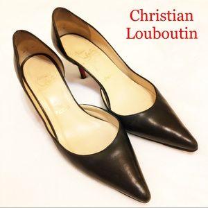Louboutin Iriza D'Orsay Leather Pumps